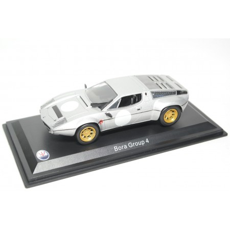 Leo Models Maserati Bora Group 4 Rally 1973 - Silver Metallic