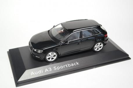 Schuco Audi A3 Sportback 8V 2013 - Phantom Black Metallic