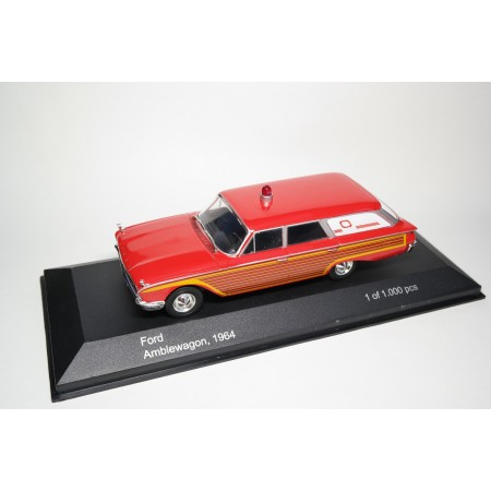 Whitebox Ford Country Squire Ambulance 1964 - Red