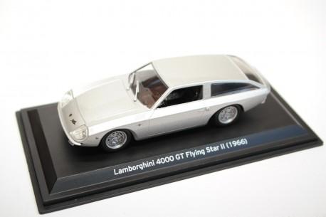 Leo Models Lamborghini 4000 GT Touring Flying Star II 1966 - Silver Metallic