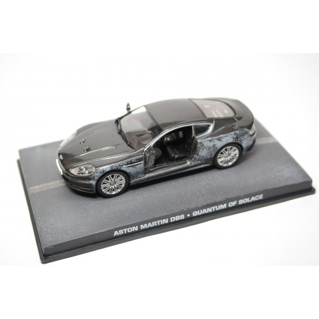 "Altaya Aston Martin DBS 6.0L V12 (Damaged version) ""Quantum of Solace (2008)"" 2008 - Dark Grey Metallic"