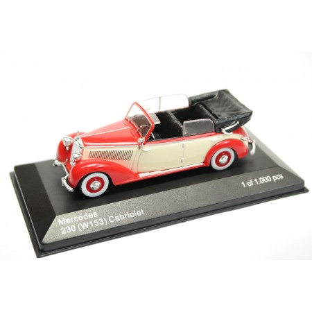Whitebox Mercedes-Benz 230 Cabriolet W153 1939 - Bright Red/Cream Beige