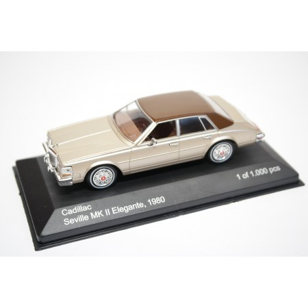 Whitebox Cadillac Seville Mark II Elegante 1980 - Gold Metallic with Brown Roof