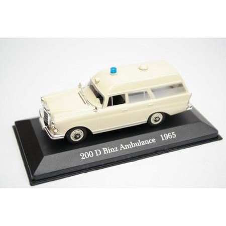 Altaya Mercedes-Benz 200 D Binz Krankenwagen W110 1965 - Beige/Ambulance