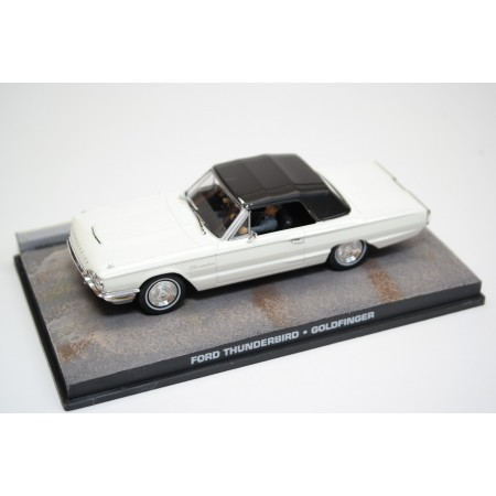 "Altaya Ford Thunderbird Convertible 76A ""Goldfinger (1964)"" 1964 - White with Black Roof"
