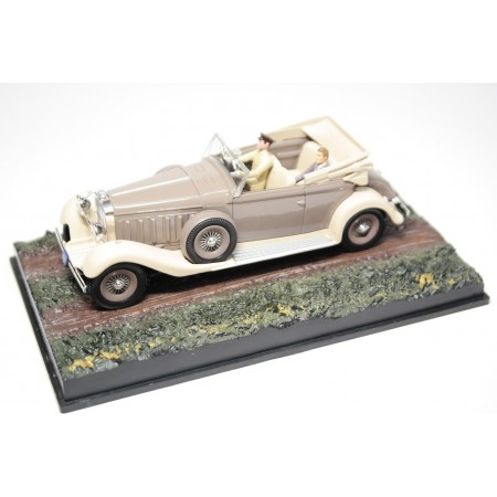 "Altaya Hispano-Suiza Type 68 J12 Cabriolet by Saoutchik Chassis #14018 ""Moonraker (1979)"" 1936 - Gray/Ivory Beige"