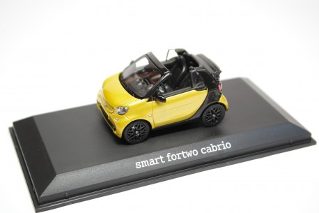 Norev Smart Fortwo Cabrio Proxy A453 2016 - Black-to-Yellow/Black