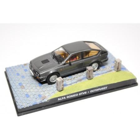 "Altaya Alfa Romeo GTV 6 2.5 116.46C ""Octopussy (1983)"" 1981 - Grey Metallic"