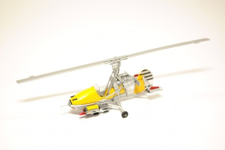 """Altaya Gyrocopter Wallis WA-116 Series 1 Little Nellie """"You Only Live Twice (1967)"""" 1962 - Yellow"""
