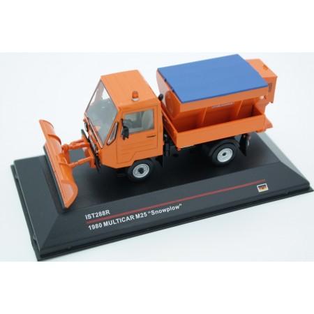IST Models Multicar M25 Snowplow 1980 - Orange