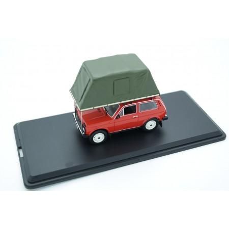 IST Models Lada Niva 1600 with Roof Tent 1981 - Red
