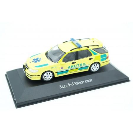 Atlas Saab 9-5 Sportcombi Akutbil Ambulance 2003 - Bright Yellow