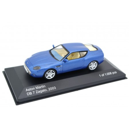 Whitebox WB030 Aston Martin DB7 Zagato 2003 - Bright Blue Metallic
