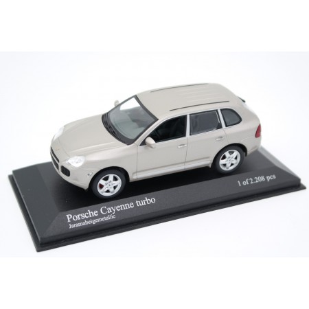 Minichamps Porsche Cayenne Turbo 9PA 2002 - Jarama Beige Metallic