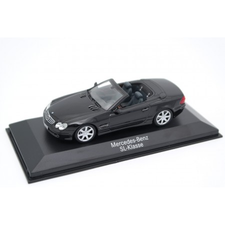 Minichamps Mercedes-Benz SL-Class Roadster R230 2001 - Obsidan Black Metallic
