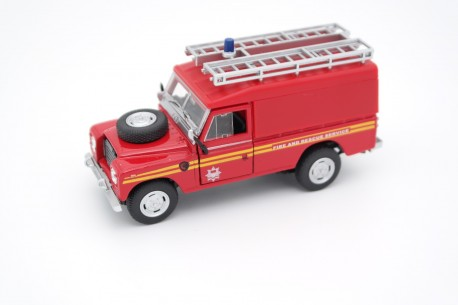 Cararama Land Rover Series III 109 Fire & Rescue Service 1961 - Red