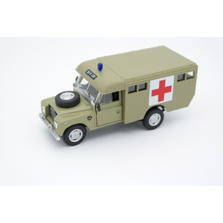 Cararama Land Rover Series III 109 Army Ambulance by Marshall 1964 - Military Olive Green