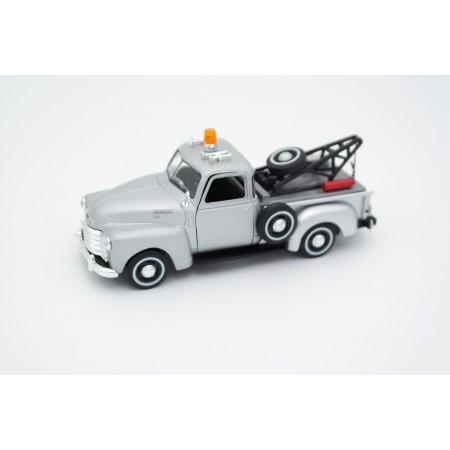 Cararama Chevrolet 3100 Pickup Tow Truck 1950 - Silver Metallic
