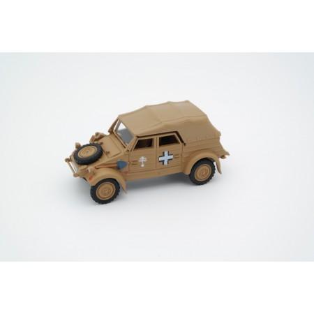 Cararama Volkswagen Typ 82 Kübelwagen Africa Corps Close Top 1941 - Flat Sand Yellow