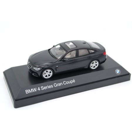 iScale Kyosho BMW 4 Series F36 Gran Coupé M Sport Package 2014 - Carbon Black