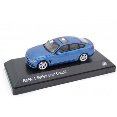 iScale Kyosho BMW 4 Series F36 Gran Coupé M Sport Package 2014 - Estoril Blue II