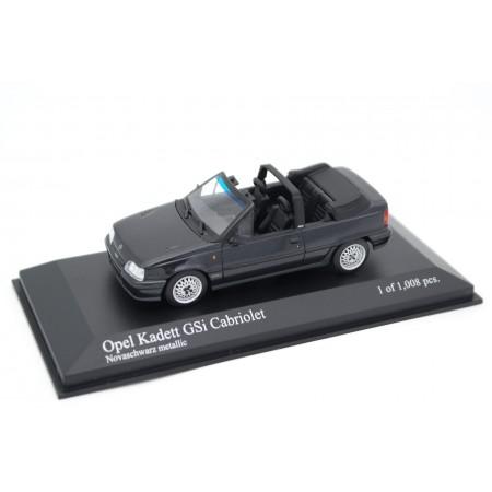 Minichamps Opel Kadett E GSi Cabriolet by Bertone Facelift 1989 - Nova Black Metallic
