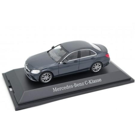 Norev Mercedes-Benz C-Class AMG Line W205 MOPF 2018 - Anthracite Blue Metallic