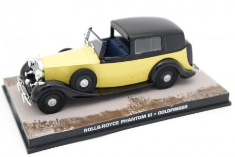"Altaya Rolls-Royce Phantom III Barker Sedanca de Ville 3-BU-168 ""Goldfinger (1964)"" 1937 - Yellow/Black"