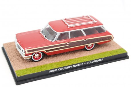 "Altaya Ford Country Squire 9-Passenger Station Wagon ""Goldfinger (1964)"" 1964 - Red/Wood"