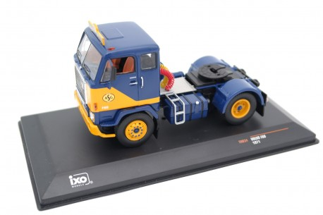 IXO Volvo F88 ASG Transport Spedition 1971 - Yellow/Dark Blue