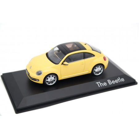 Schuco Volkswagen Beetle Coupé Panoramic Sunroof 5C A5 2012 - Sunflower Yellow