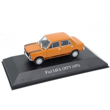 Altaya Fiat 128 IAVA TV 1971 - Red Orange with Black Decor