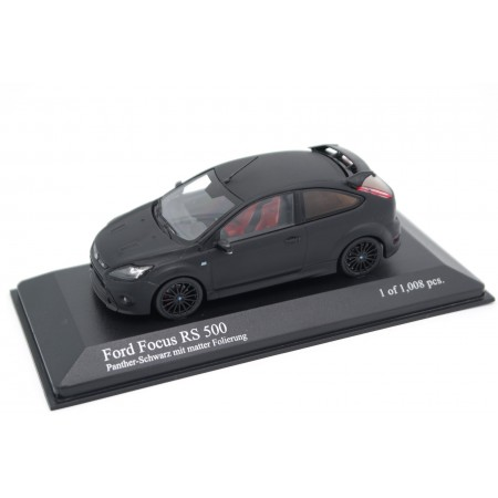 Minichamps Ford Focus RS 500 Mark II C307 Facelift 2010 - Panther Black Metallic with 3M Black Matte Effect Film