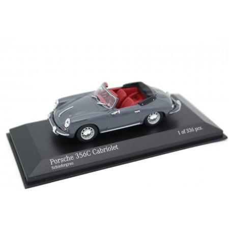 Minichamps Porsche 356 C Cabriolet 1965 - Slate Gray