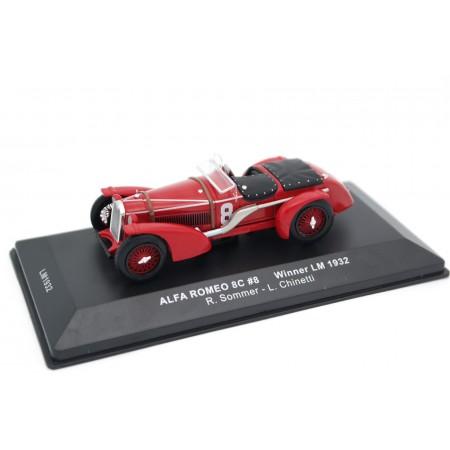 """IXO Alfa Romeo 8C-2300 MM #8 """"R.Sommer"""" Winner Le Mans 1932 - R.Sommer/L.Chinetti"""