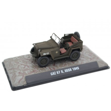 Atlas GAZ 67B, USSR 1945 - Military Green