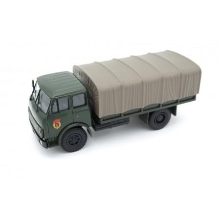Наш автопром МАЗ-5334 бортовой с тентом 1977 - Зеленый