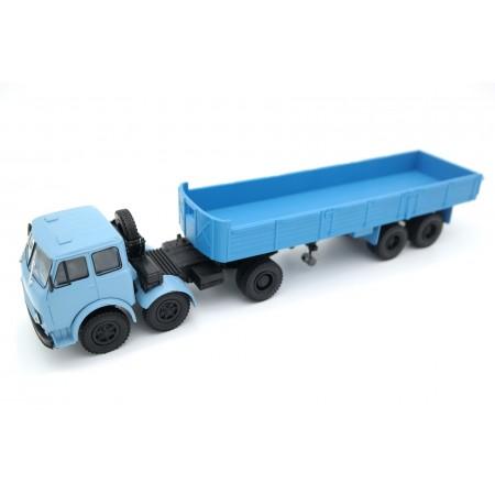 Наш автопром МАЗ-520 с полуприцепом МАЗ-5205 1972 - Голубой/Синий
