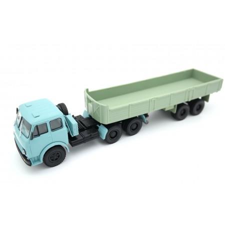 Наш автопром МАЗ-515 с полуприцепом МАЗ-5205 1965 - Голубой/Зеленый