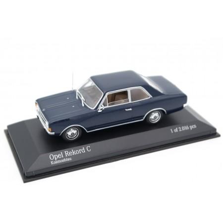 Minichamps Opel Rekord C 2-door 1900 S 1966 - Cosmos Blue
