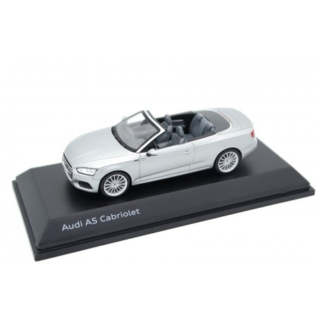 Spark Audi A5 Cabriolet F5 2017 - Florett Silver Metallic