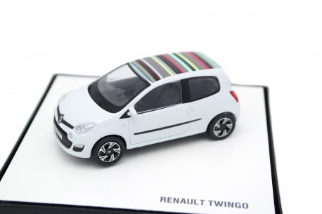 China Promo Models Renault Twingo II Phase 2 2012 - Aritka White with Multicolor Roof