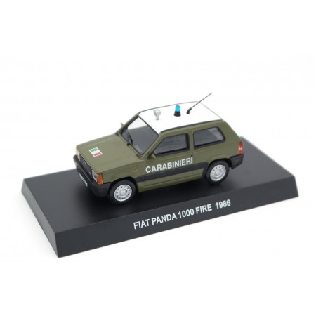 Altaya Fiat Panda 1000 Fire 141A Carabinieri 1986 - Military Green with White Roof