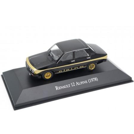 Altaya Renault 12 Alpine 1978 - Classic Black with Gold Metallic Decor