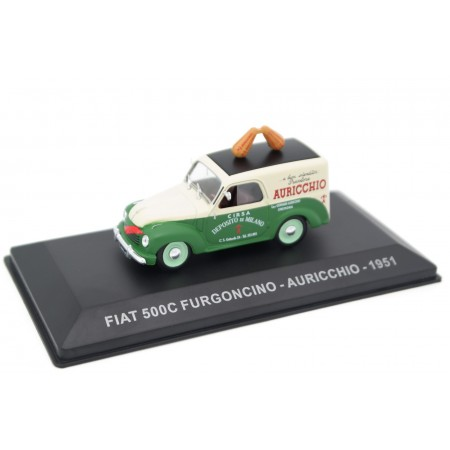 "Altaya Fiat 500C Furgoncino ""Auricchio"" 1951 - Juicy Green/Light Ivory"