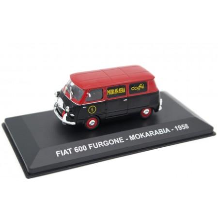 "Altaya Fiat 600 Furgone ""Mokarabia"" 1958 - Amerant Red/Black"