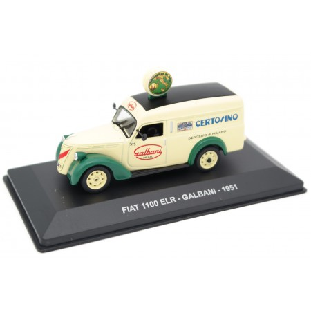 "Altaya Fiat 1100 ELR ""Galbani"" 1951 - Pale Yellow/Forest Green"