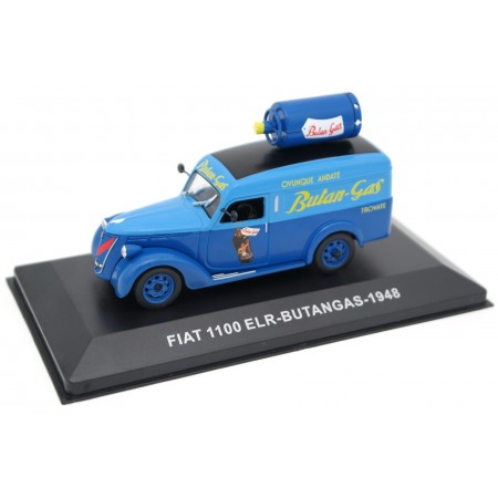 "Altaya Fiat 1100 ELR ""Butan-Gas"" 1948 - Medium Blue/Azzurro Blue"