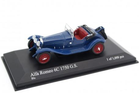 Minichamps Alfa Romeo 6C 1750 Gran Sport Parigi by Carrozzeria Zagato 1930 - Monza Blue