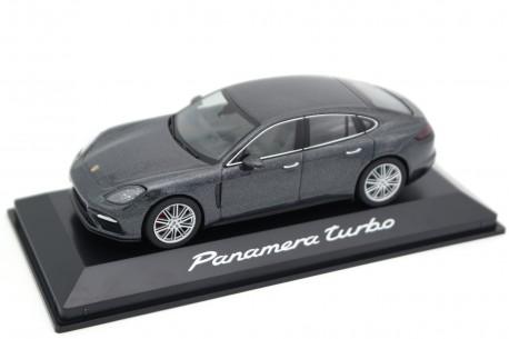 Herpa Porsche Panamera Turbo 4.0 V8 971 G2 2016 - Volcanic Grey Metallic